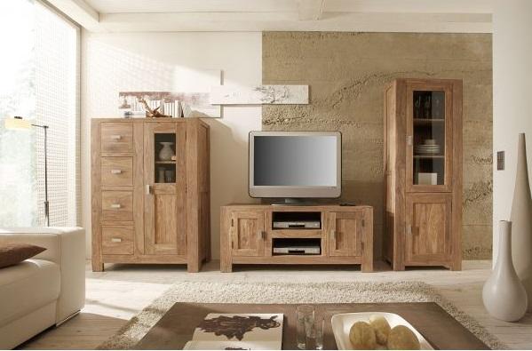 Obývacia izba v rustikálnom štýle sa hodí aj do modernej domácnosti